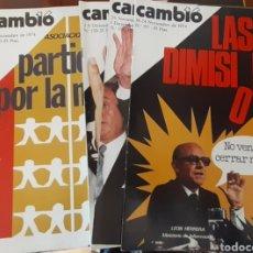 Coleccionismo de Revista Cambio 16: REVISTA CAMBIO 16 AÑO 1974. Lote 245564130