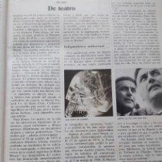 Coleccionismo de Revista Cambio 16: FABIO ZERPA DIVULGADOR SOBRE LOS OVNIS. RECORTE DE CAMBIO 16, DICIEMBRE 1975. Lote 246137730