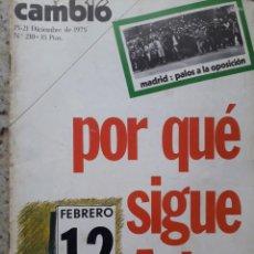 Coleccionismo de Revista Cambio 16: TRANSICION.ARIAS NAVARRO SIGUE DE PRESIDENTE DE GOBIERNO.4 PAGS.RECORTE DE CAMBIO 16,DICIEMBRE 1975. Lote 246160310