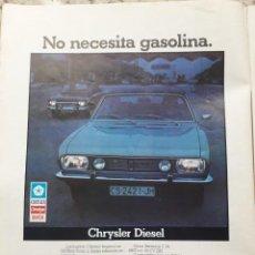 Coleccionismo de Revista Cambio 16: PUBLICIDAD. ANUNCIO CHRYSLER DIESEL. EXTRAIDO DE CAMBIO 16,DICIEMBRE 1975. Lote 246161560