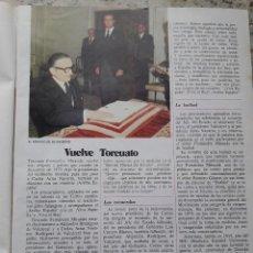 Coleccionismo de Revista Cambio 16: TRANSICION. FERNANDEZ MIRANDA, PRESIDENTE DE LAS CORTES. RECORTE DE CAMBIO 16,DICIEMBRE 1975. Lote 246161805