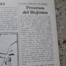 Coleccionismo de Revista Cambio 16: TRANSICION. PROCESOS MATESA, REACE Y DIARIO MADRID. 4 PAGS. RECORTE DE CAMBIO 16,DICIEMBRE 1975. Lote 246162725