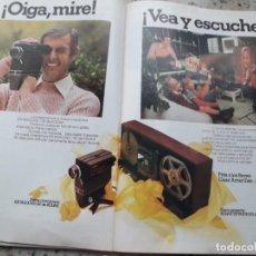 Coleccionismo de Revista Cambio 16: PUBLICIDAD. ANUNCIO CINECAMARA Y PROYECTOR KODAK. 2 PAGS. RECORTE DE CAMBIO 16,DICIEMBRE 1975. Lote 246163725