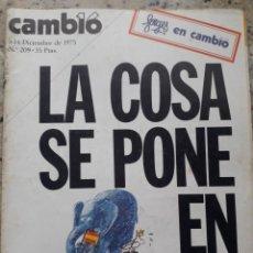 Coleccionismo de Revista Cambio 16: TRANSICION. INDULTO Y PRIMERAS MEDIDAS APERTURISTAS. 24 PAGINAS,RECORTE DE CAMBIO 16, DICIEMBRE 1975. Lote 246173805