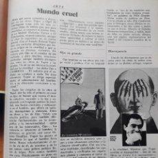 Coleccionismo de Revista Cambio 16: EXPOSICIONES DE OPS Y TOPOR. RECORTE CAMBIO 16, DICIEMBRE 1975. Lote 246209150