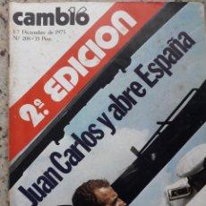 Coleccionismo de Revista Cambio 16: TRANSICION. FUNERAL DE FRANCO, JUAN CARLOS PROCLAMADO REY. 42 PAG. RECORTE CAMBIO 16, DICIEMBRE 1975. Lote 246214425