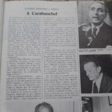 Coleccionismo de Revista Cambio 16: TRANSICION. SANCHEZ MONTERO Y OTROS DEL PCE A LA CARCEL. RECORTE CAMBIO 16, DICIEMBRE 1975. Lote 246233460