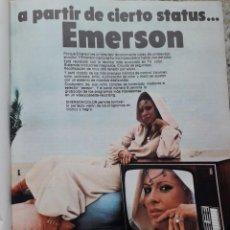 Coleccionismo de Revista Cambio 16: PUBLICIDAD. ANUNCIO TELEVISOR EMERSON A PARTIR DE CIERTO SATATUS. RECORTE CAMBIO 16, DICIEMBRE 1975. Lote 246234595