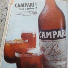 Coleccionismo de Revista Cambio 16: PUBLICIDAD. ANUNCIO CAMPARI. RECORTE CAMBIO 16, DICIEMBRE 1975. Lote 246234985