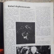 Collezionismo di Rivista Cambio 16: POLEMICA POR LA PELICULA RAFAEL...EN RAPHAEL. RECORTE CAMBIO 16, DICIEMBRE 1975. Lote 246237760