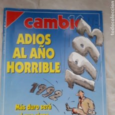 Coleccionismo de Revista Cambio 16: REVISTA CAMBIO 16 - Nº 1102 ENERO 1993 - ADIÓS AL AÑO HORRIBLE. Lote 246422530