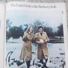 Coleccionismo de Revista Cambio 16: PUBLICIDAD. ANUNCIO DE BURBERRYS. RECORTE CAMBIO 16 NOVIEMBRE 1975. Lote 246567745