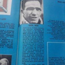 Coleccionismo de Revista Cambio 16: CIPRIANO MERA, HISTORICO DE LA CNT, MUERE EN EL EXILIO EN PARIS. RECORTE CAMBIO 16 NOVIEMBRE 1975. Lote 246568225