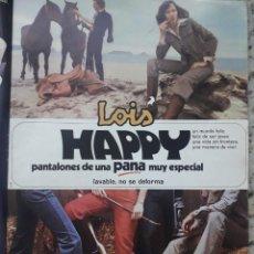 Coleccionismo de Revista Cambio 16: PUBLICIDAD. ANUNCIO DE PANTALONES DE PANA LOIS. RECORTE CAMBIO 16 NOVIEMBRE 1975. Lote 246568460