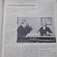 Coleccionismo de Revista Cambio 16: TRANSICION. FRANCO ENFERMO. RECORTE CAMBIO 16 OCTUBRE 1975. Lote 246569815