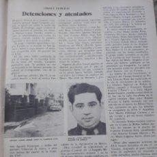 Coleccionismo de Revista Cambio 16: DETENCIONES DE ETA Y EN MANRESA DEL CIRCULO OBRERO COMUNISTA. RECORTE CAMBIO 16 OCTUBRE 1975. Lote 246570230