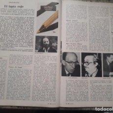 Colecionismo da Revista Cambio 16: CENSURA A LOS ESCRITORES ESPAÑOLES. RECORTE. OCTUBRE 1975. Lote 246669810