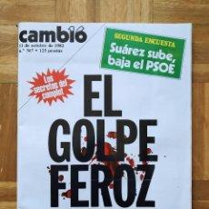 Coleccionismo de Revista Cambio 16: REVISTA CAMBIO 16. Nº 567. LOS BEATLES. SUAREZ. PSOE. TEJERO. IVECO. PEGASO. VER FOTOS. Lote 253105135