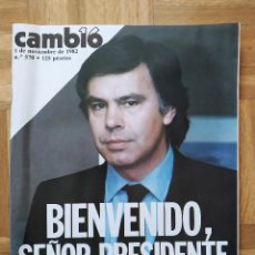 Coleccionismo de Revista Cambio 16: REVISTA CAMBIO 16 570. FELIPE GONZALEZ. JUAN PABLO II. RONALD REAGAN. IBM. LEONARDO DA VINCI. PEGASO. Lote 253106305