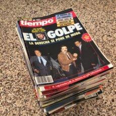 Coleccionismo de Revista Cambio 16: LOTE 60 REVISTAS 1982-2005 TIEMPO CAMBIO 16 DIARIO EL PAÍS SEMANAL ABC ÉPOCA SUPLEMENTO LA VERDAD. Lote 254314320