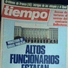 Coleccionismo de Revista Cambio 16: REVISTA TIEMPO DE HOY Nº 144. ALTOS FUNCIONARIOS ESTAFAN AL ESTADO. TXIKIERDI. . FEBRERO 1985. Lote 262254165