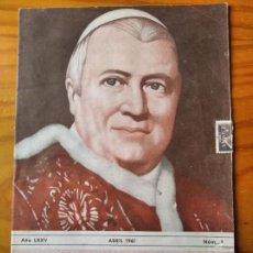 Coleccionismo de Revista Cambio 16: BOLETIN SALESIANO ABRIL 1961- BARCELONA SALESIANA - DON BOSCO SARRIA- ZARAGOZA- JIBAROS- NEUQUEN.... Lote 270597463