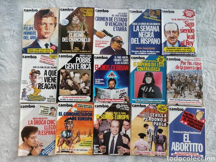 LOTE 15 REVISTAS CAMBIO 16 DE 1985 (684-699) (Coleccionismo - Revistas y Periódicos Modernos (a partir de 1.940) - Revista Cambio 16)