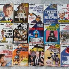 Coleccionismo de Revista Cambio 16: LOTE 15 REVISTAS CAMBIO 16 DE 1985 (684-699). Lote 277222203