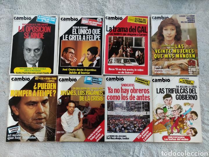 LOTE 8 REVISTAS CAMBIO16 DE 1985 (700-709, FALTAN 702 Y 706) (Coleccionismo - Revistas y Periódicos Modernos (a partir de 1.940) - Revista Cambio 16)
