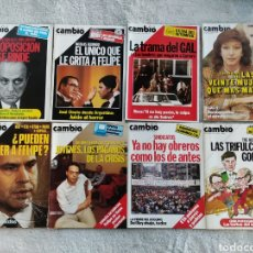 Coleccionismo de Revista Cambio 16: LOTE 8 REVISTAS CAMBIO16 DE 1985 (700-709, FALTAN 702 Y 706). Lote 277222818