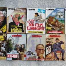 Coleccionismo de Revista Cambio 16: LOTE 9 REVISTAS CAMBIO16 DE 1985 (JULIO-DICIEMBRE). Lote 277224003