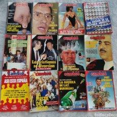 Coleccionismo de Revista Cambio 16: LOTE 12 REVISTAS CAMBIO16 DE 1986. JULIO-DICIEMBRE.. Lote 277225468