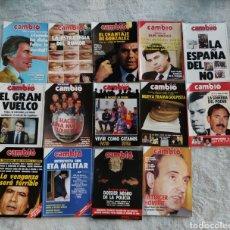 Coleccionismo de Revista Cambio 16: LOTE 14 REVISTAS CAMBIO16 DE 1986. 742-756 (FALTAN 748 Y 753). Lote 277226098
