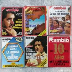 Coleccionismo de Revista Cambio 16: LOTE 6 REVISTAS CAMBIO 1984, 1987 Y ESPECIAL 10 AÑOS.. Lote 277226603