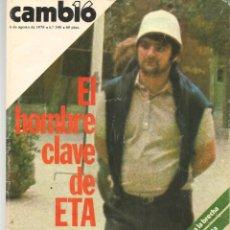 Coleccionismo de Revista Cambio 16: REVISTA CAMBIO 16. Nº 348. ¨APALA ¨: EL HOMBRE FUERTE DE ETA. 6 AGOSTO 1978 (TRO/14). Lote 277277483