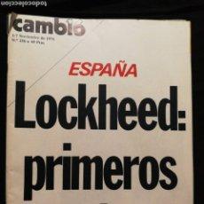 Coleccionismo de Revista Cambio 16: REVISTA CAMBIO 16,AÑO 1976. Lote 278291283