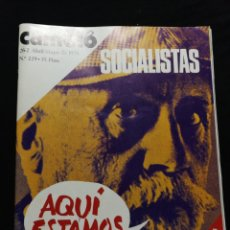 Coleccionismo de Revista Cambio 16: REVISTA CAMBIO 16,AÑO 1976,ABRIL-MAYO.. Lote 278291383