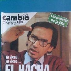 Coleccionismo de Revista Cambio 16: REVISTA CAMB16 Nº 574 29/11/1982 CAMBIO16 Nº574. Lote 279507138
