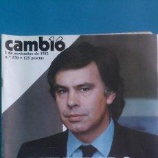 Coleccionismo de Revista Cambio 16: REVISTA CAMB16 Nº 570 01/11/1982 CAMBIO16 Nº570. Lote 279507308