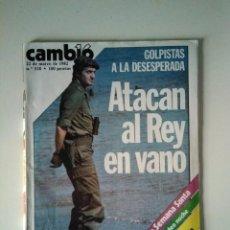 Coleccionismo de Revista Cambio 16: CAMBIO 16. GOLPISTAS A LA DESESPERADA. PIRANDELLO, SEMANA SANTA, MARADONA.. Lote 282049638