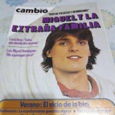 Coleccionismo de Revista Cambio 16: REVISTA CAMBIO 16 NUMERO 449 MIGUEL BOSÉ. Lote 287802463