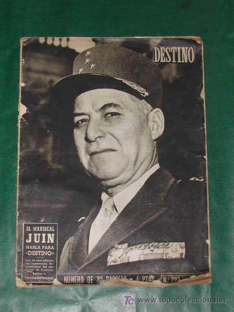REVISTA DESTINO N.793 DEL 18 OCTUBRE 1952 (Coleccionismo - Revistas y Periódicos Modernos (a partir de 1.940) - Revista Destino)