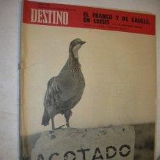 Coleccionismo de Revista Destino: REVISTA DESTINO 1626 DEL 30 NOVIEMBRE 1968. Lote 26484736