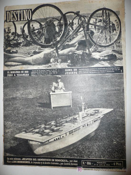 REVISTA DESTINO * Nº 886 * AÑO 1954 (Coleccionismo - Revistas y Periódicos Modernos (a partir de 1.940) - Revista Destino)