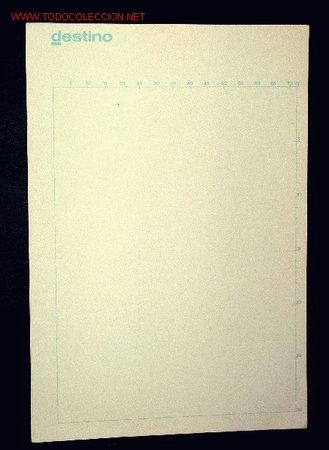 DESTINO PAPEL PAUTADO UTILIZADO EN LA DESAPARECIDA REVISTA (Coleccionismo - Revistas y Periódicos Modernos (a partir de 1.940) - Revista Destino)