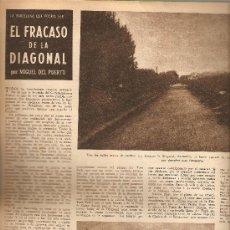Coleccionismo de Revista Destino: REVISTA.AÑO1945.URBANISMO.BARCELONA.EL FRACASO DE LA DIAGONAL.CARLOS SENTIS.A DACHAU.MONTMARTRE.. Lote 10709892