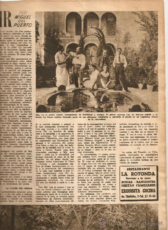 AÑO 1950 OLIVEIRA SALAZAR ESCUELA DE COMERCIO MERCAT BORN PINTURA MIR VILANOVA GELTRU RAMON CALSINA (Coleccionismo - Revistas y Periódicos Modernos (a partir de 1.940) - Revista Destino)