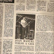 Coleccionismo de Revista Destino: AÑO 1968 SERRAT EUROVISION ASILO LLEIDA MALLORCA CUEVAS TORRE CANYAMEL DELIBES ERMENGOL PASSOLA. Lote 11143040