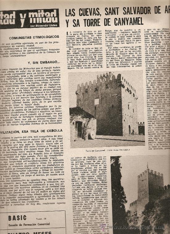 Coleccionismo de Revista Destino: AÑO 1968 SERRAT EUROVISION ASILO LLEIDA MALLORCA CUEVAS TORRE CANYAMEL DELIBES ERMENGOL PASSOLA - Foto 3 - 11143040