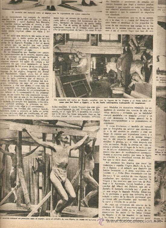 AÑO 1955 ANTONIO GAUDI ESCULTOR VIRGEN DEL PUERTO EXTREMADURA TARREGA BALAGUER CANARIAS TAPIES (Coleccionismo - Revistas y Periódicos Modernos (a partir de 1.940) - Revista Destino)